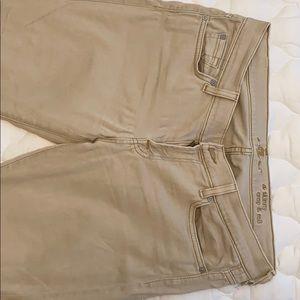 Beige crop seven jeans